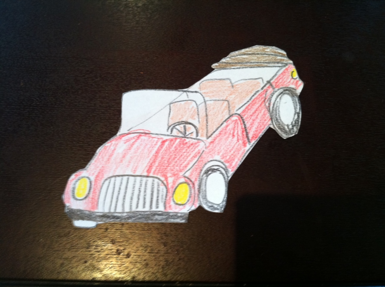 Initial crafted car